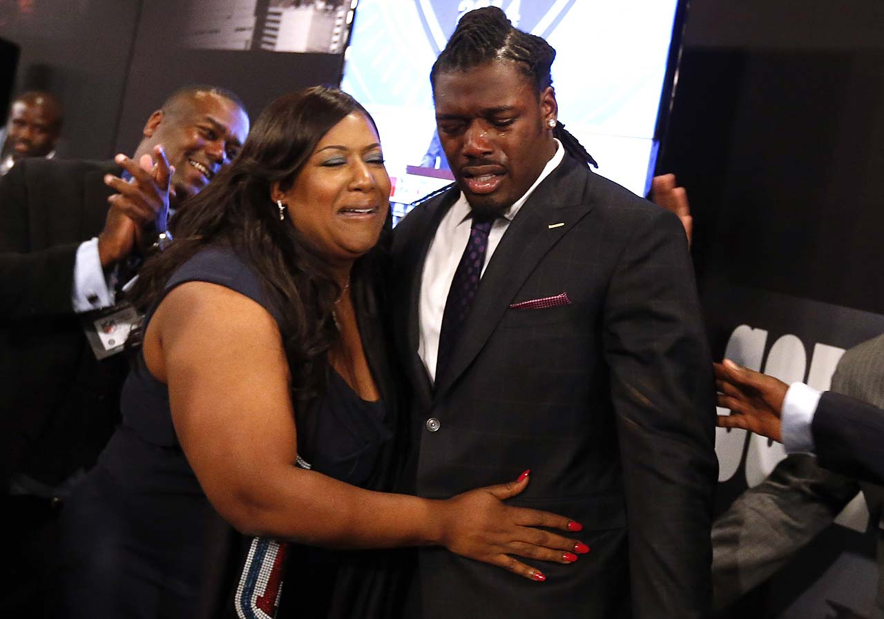 Jadeveon Clowney reacts with his mother, Josenna, after being selected first by the Houston Texans in the 2014 draft at Radio City Music Hall in New York.