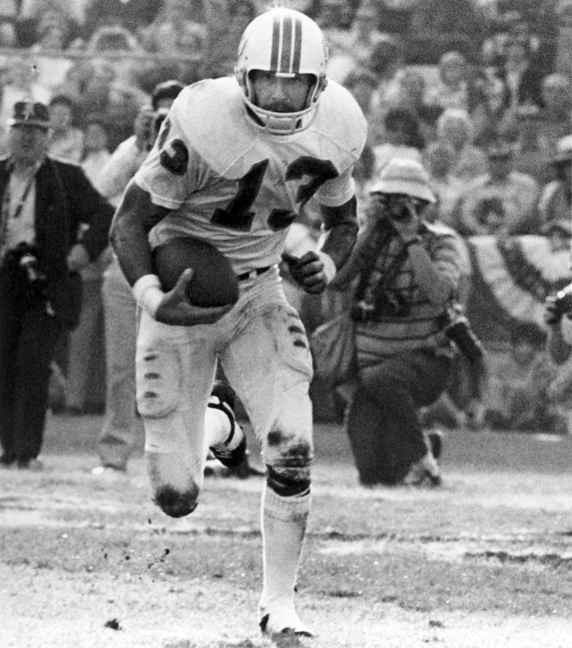 The Dolphins and Redskins safety was a five-time Pro Bowler who won two Super Bowls with Miami. He was named the MVP of Super Bowl VII in Miami's 14-7 win over Washington. In that game, Scott had two interceptions including one in the fourth quarter.