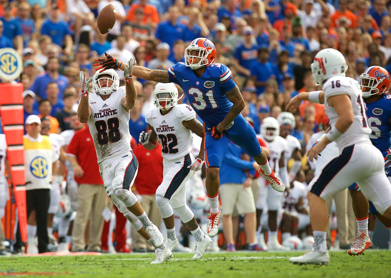 Tabor was one of two Florida cornerbacks (along with Vernon Hargreaves III) to be named to first-team All-SEC in 2015 after he recorded 40 tackles, four interceptions and two touchdowns. He is suspended for the Gators' season opener against UMass but will be back for their start to SEC play against Kentucky in Week 2.