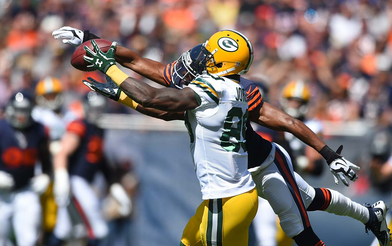 James Jones made his return to the Packers a joyous one, catching two touchdown passes in Week 1.
