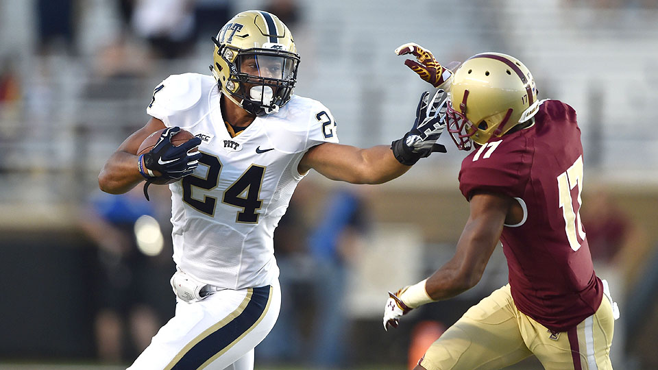 James Conner stiff-armed the Boston College defense to the tune of 214 yards and 36 carries Friday night in the ACC opener.