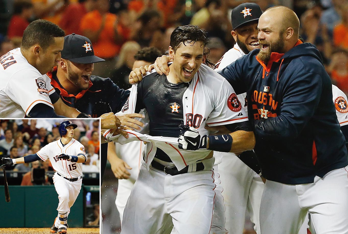 Jason Castro hit a three-run homer with two out in the ninth inning to give the Houston Astros a 3-0 victory and a three-game sweep of the Los Angeles Angels on July 30.