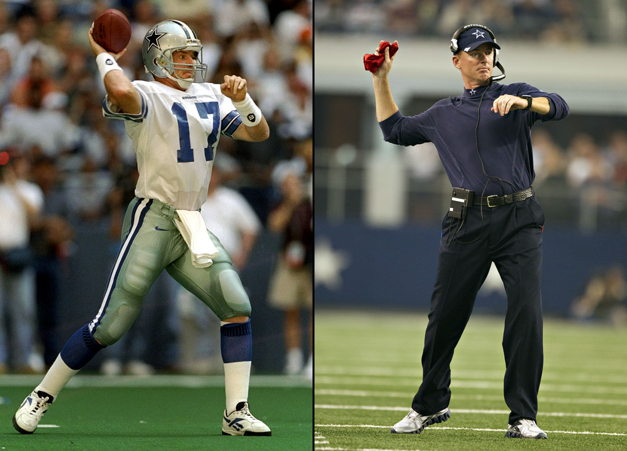 Largely a backup for his entire career, Jason Garrett enjoyed his career highlight in Dallas on Thanksgiving Day 1994. Garrett led the Cowboys to a come-from-behind victory over the Packers, finishing with 311 passing yards and two touchdowns. When he was named the interim head coach of the Cowboys on Nov. 8, 2010, Garrett piloted a similarly shocking upset: a 33-20 victory over the favored New York Giants at the Meadowlands. He has remained the head coach ever since.