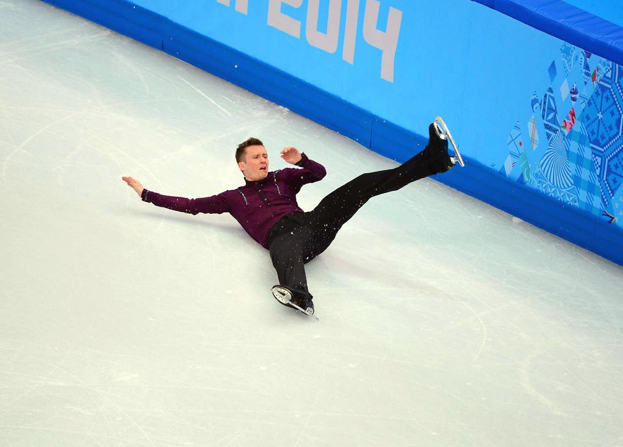 American champion figure skater Jeremy Abbott nailed his routine in the short program – except for one very important moment: He fell to the ice while attempting a quadruple toe loop. Though the crowd still applauded his efforts when he finished the entire program even after falling, Abbott's tumble – which sent him sprawling in pain on the ice for a moment before he finally lifted himself to his feet – contributed to his 15th place finish.