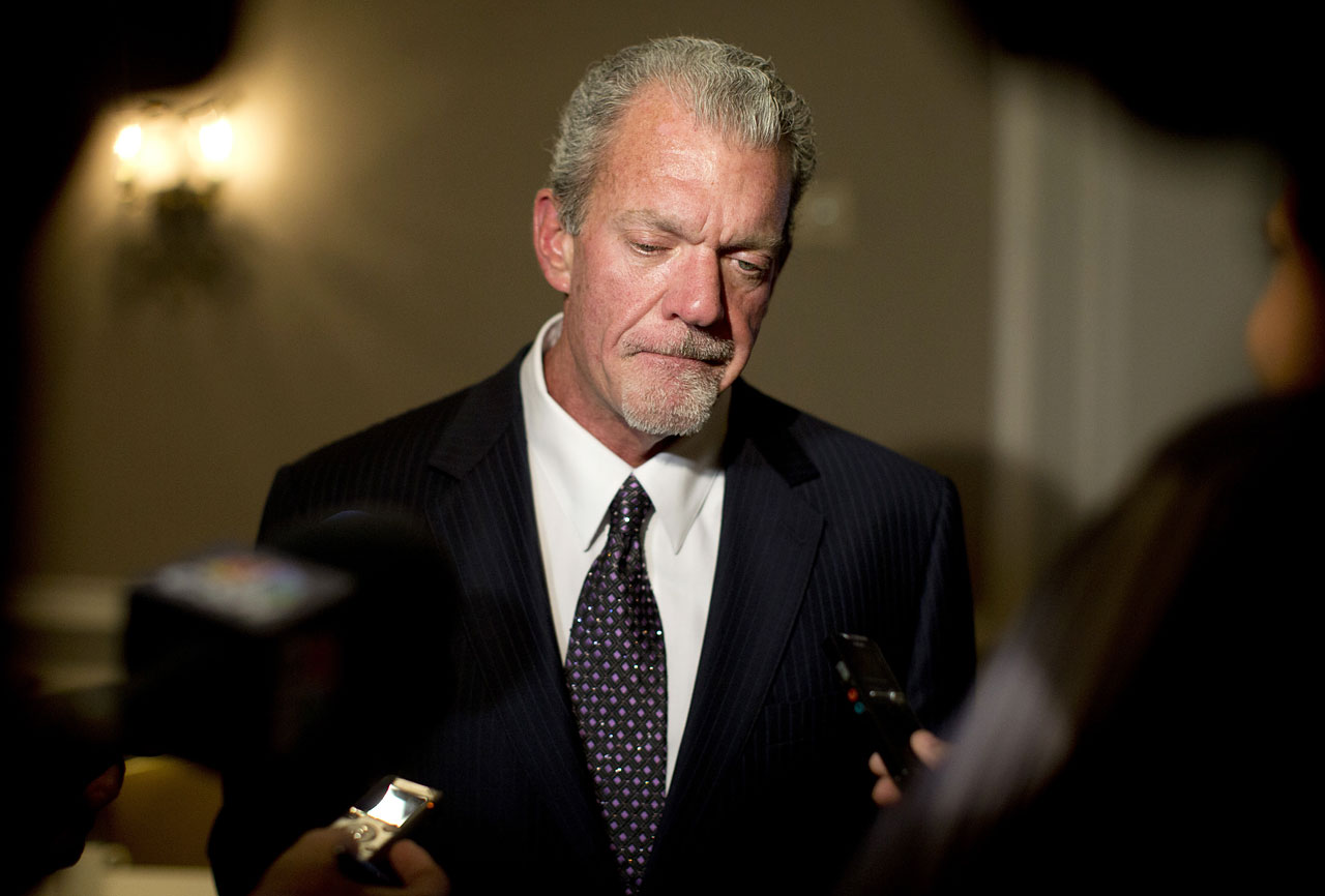 The Indianapolis Colts owner was charged with operating a vehicle while intoxicated and four counts of possession of a controlled substance after police arrested him on March 16, 2014, finding painkillers and more than $29,000 in his vehicle. Irsay was sentenced to one year of probation, during which he will be drug tested and barred from possessing or consuming alcoholic beverages.  He was suspended for six games and fined $500,000 for violating the NFL's personal conduct policy.