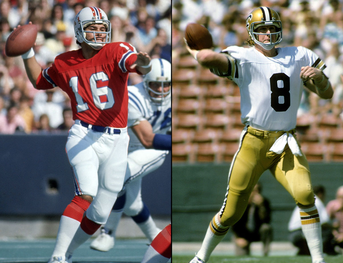 1971: 1—Jim Plunkett (New England Patriots), 2—Archie Manning (New Orleans Saints)