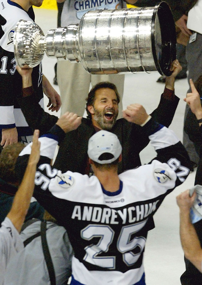 "The fiery Tortorella was the Bolts' bench boss for seven years, compiling a 239-222-36-38 mark with four playoff berths and leading the team to its first Stanley Cup in 2004. ""This was a country club, a retirement home. It was a place players came to retire, they just forgot to tell us they were doing it,"" GM Jay Feaster said. ""John came in and changed the culture, changed the way we do business, and the attitude. And in so doing, he raised expectations."""