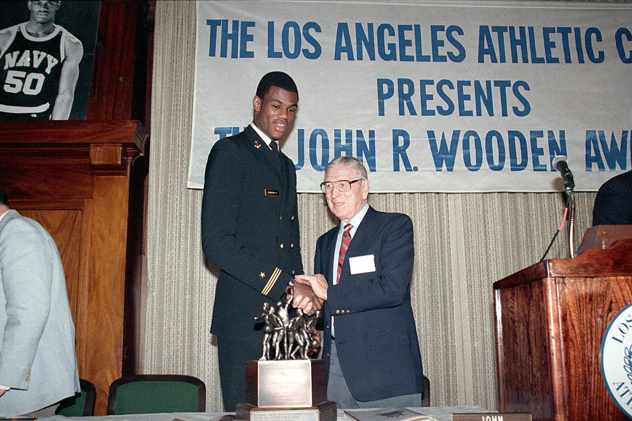The Wizard of Westwood served in the Navy during World War II as a physical education instructor. His aptitude for teaching stuck with him as he became one of the greatest basketball coaches of all time. His UCLA teams won 10 national championships, including seven in a row.