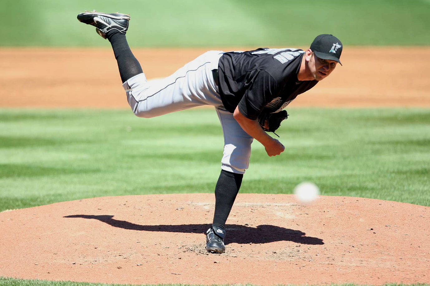 Johnson debuted with the Marlins in 2006 with an impressive 12-7 record and 3.10 ERA. But after starting 2007 0-3 with a 7.47 ERA he was sidelined by Tommy John surgery that August. He returned to the majors in July 2008 and finished that year 7-1. In 2009, his first full year after surgery, Johnson turned in an All-Star season with a 15-5 record and a career-high 191 strikeouts; in 2010, he led the league with a 2.30 ERA and made another All-Star game, even finishing fifth in NL Cy Young voting. Injuries cut his 2011 season short and in April 2014, Johnson underwent Tommy John surgery again.