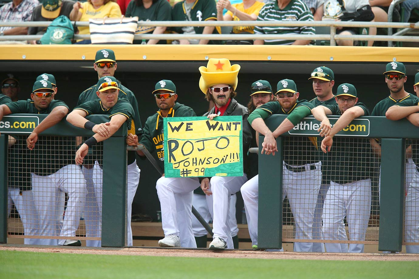 Josh Reddick dressed as Turd Ferguson