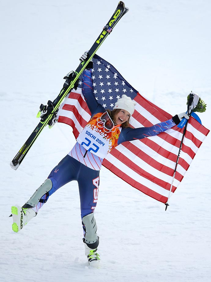 Bronze medalist Julia Mancuso of the United States finished 0.53 seconds behind Maria Hoefl-Riesch, who won gold.