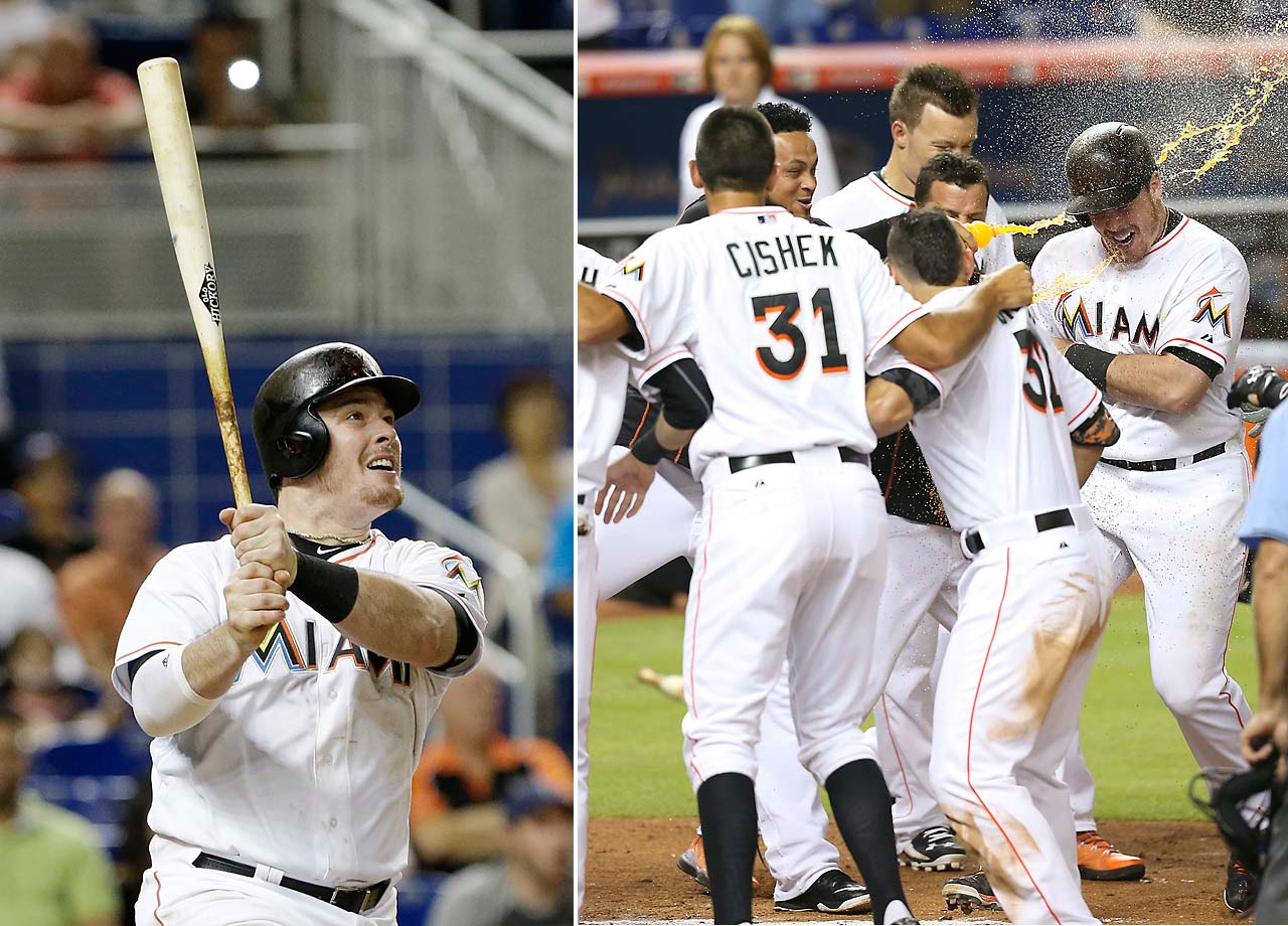 Justin Bour gave the Miami Marlins a 6-5 win over the San Francisco Giants with this three-run homer on July 1 at Marlins Park.