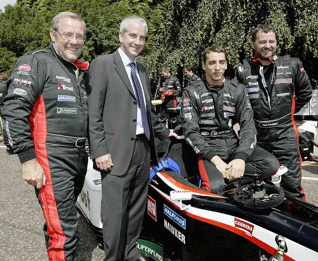 "In 2003 Wilson became the tallest driver (6' 4"") in F1 history, spending that year driving for Minardi Cosworth (photo) and Jaguar Racing. To raise money to support his career, he sold shares in himself to nearly 900 investors."