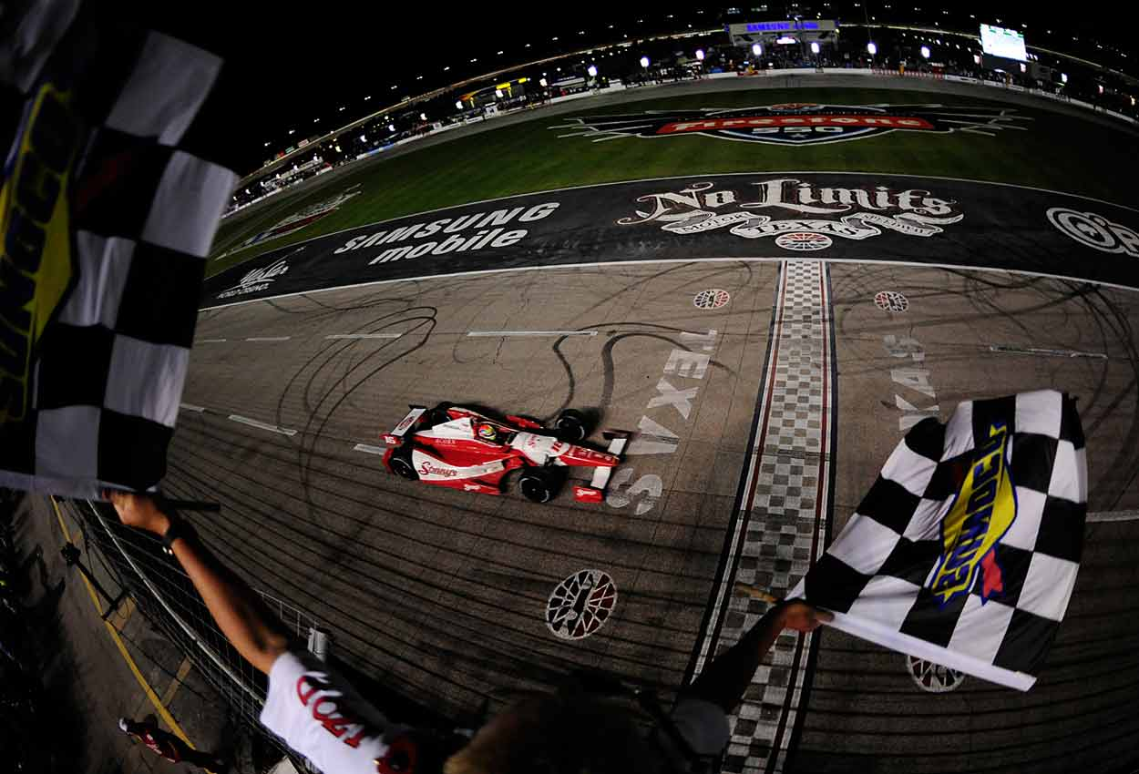 In 2012, Wilson won at Texas Motor Speedway in what would turn out to be his last IndyCar victory.