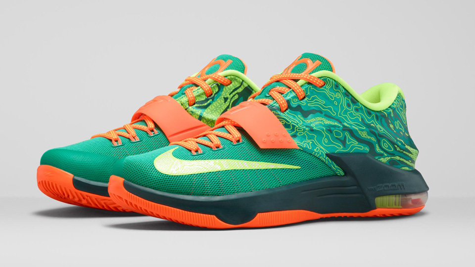check out 1ff46 b20fd Nike reveals KD7  Weatherman  line with Doppler-themed graphics