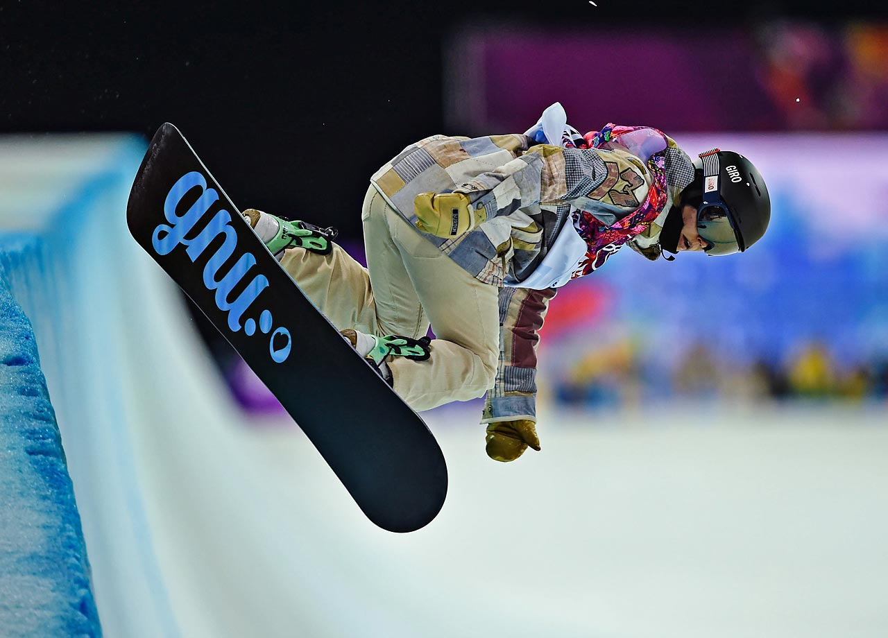 Kaitlyn Farrington of the U.S. took first place in the Halfpipe.