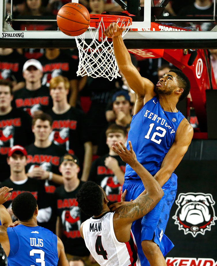 Towns is the latest in a line of Kentucky freshman with NBA-ready talent. He plays under 21 minutes a game, but Towns is every bit the shot-blocker and rebounder as his teammate Cauley-Stein. And Towns is also efficient on offense, shooting nearly 56 percent.