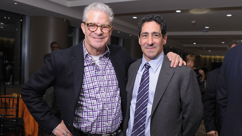 HBO Sports President Ken Hershman (right), pictured here with sportscaster Jim Lampley, had a successful 2014 and has big plans for 2015.