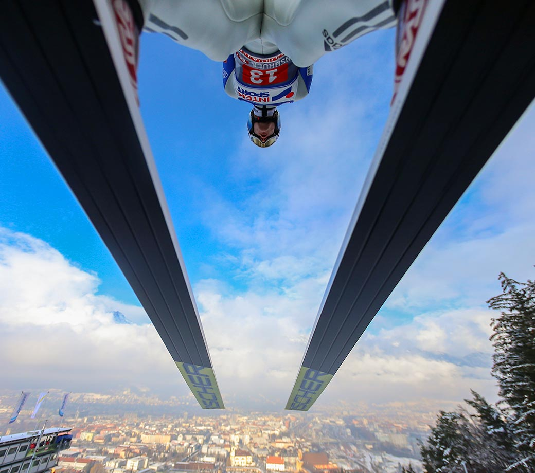 Kenneth Gangnes during the FIS Nordic World Cup Four Hills Tournament in Innsbruck, Austria.
