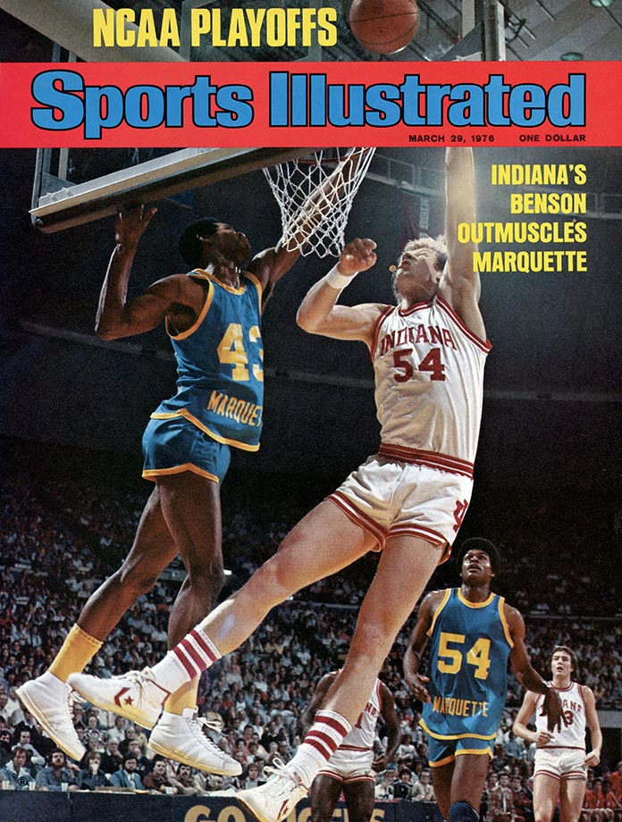 A future No. 1 overall draft pick, Benson was a starter on the last undefeated national champion, the 1976 Hoosiers. He was named the Final Four's Most Outstanding Player after scoring 25 points and grabbing nine rebounds in the championship game win over Michigan. Benson also had 33 points and 23 rebounds in Indiana's loss to Kentucky in the 1975 Elite Eight. Had Scott May not broken his arm late in the season, the Hoosiers would probably have won back-to-back titles.