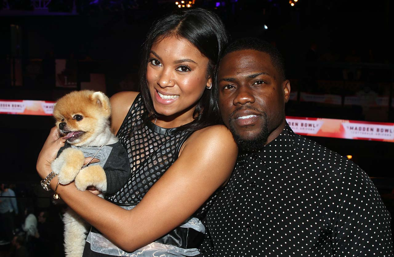 Kevin Hart and fiancé Eniko Parrish