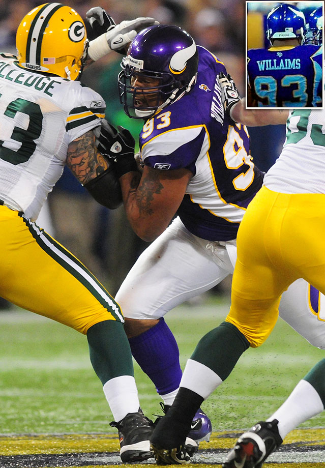 Vikings defensive tackle Kevin Williams made six Pro Bowls and has a common last name, so you'd figure the team could spell his name right for a home game against the Packers on Nov. 21, 2010. The 31-3 loss, however, was probably more embarrassing.