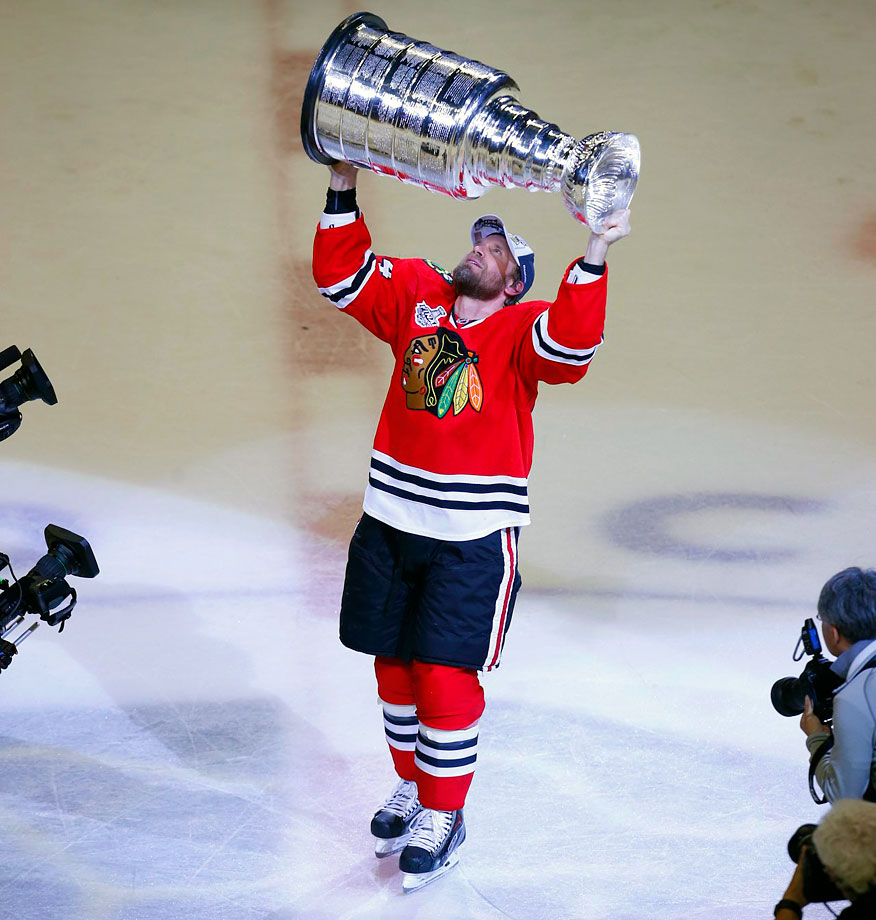 In the final game of a 16-year NHL career and a lifetime in hockey, the 40-year-old defenseman became a champion at last. Timonen, 40, has four Olympic medals with Finland, but no golds. He reached three World Championships finals, losing every time. The four-time NHL All-Star was the captain of the Nashville Predators during his first eight NHL seasons with the club, never making a lengthy playoff run. Timonen got close to a Cup in 2010 with the Philadelphia Flyers, but the Blackhawks rallied past them in the Stanley Cup Final to claim the first of their three titles in six years.