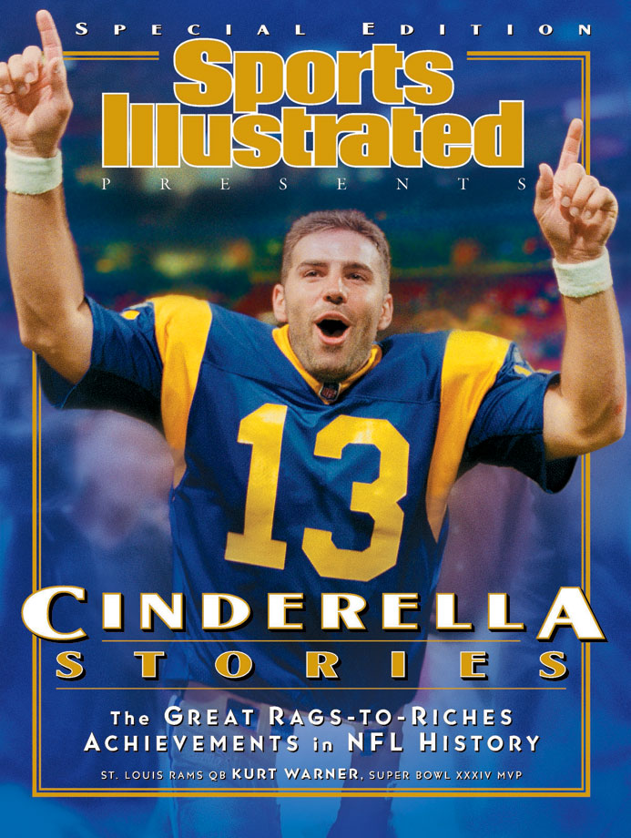 One of the greatest undrafted players in NFL history, Warner won MVP awards in 1999 and 2001 and led the Rams to a championship title in Super Bowl XXXIV. His 414 passing yards against Tennessee in that game is an NFL record. No other quarterback has thrown for more than 400 yards in a Super Bowl.
