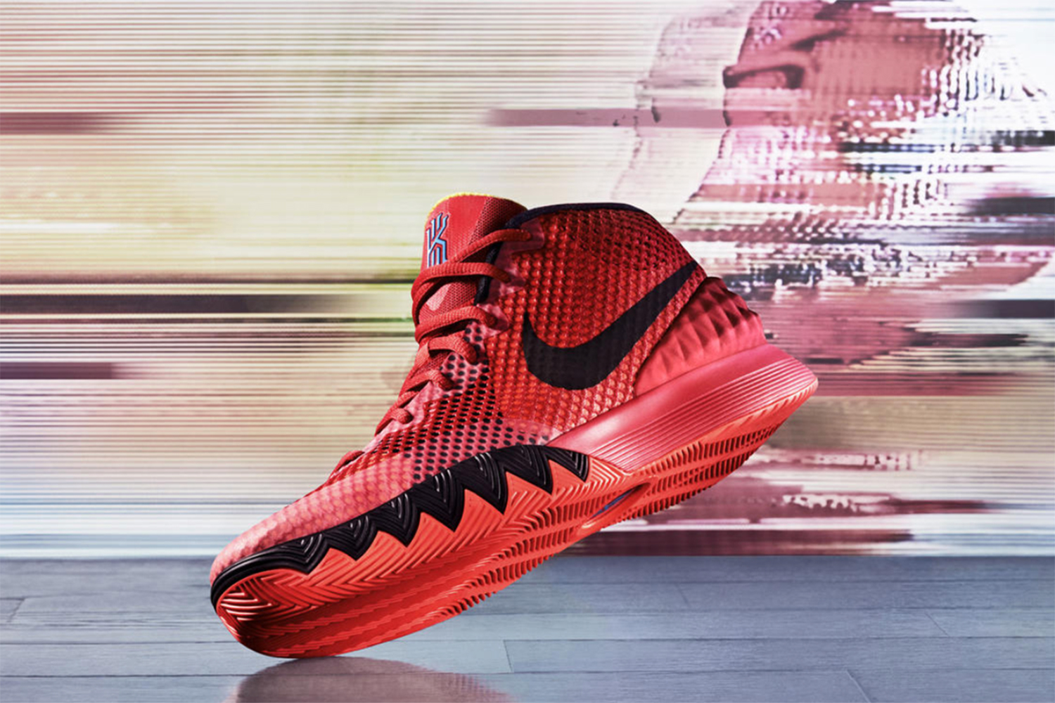 A brand-new signature shoe in the Nike line debuted in December, allowing this newcomer to the year's shoe list to crack our top 10 with its dynamic style. The KYRIE 1 features lightweight technology that includes a Hyperfuse upper—Nike's layering of multiple materials into one technology—and a grip pattern that climbs the shoe's sidewalls. Aesthetically, the Hyperfuse offers up a pebbled look not seen elsewhere in the Nike line.