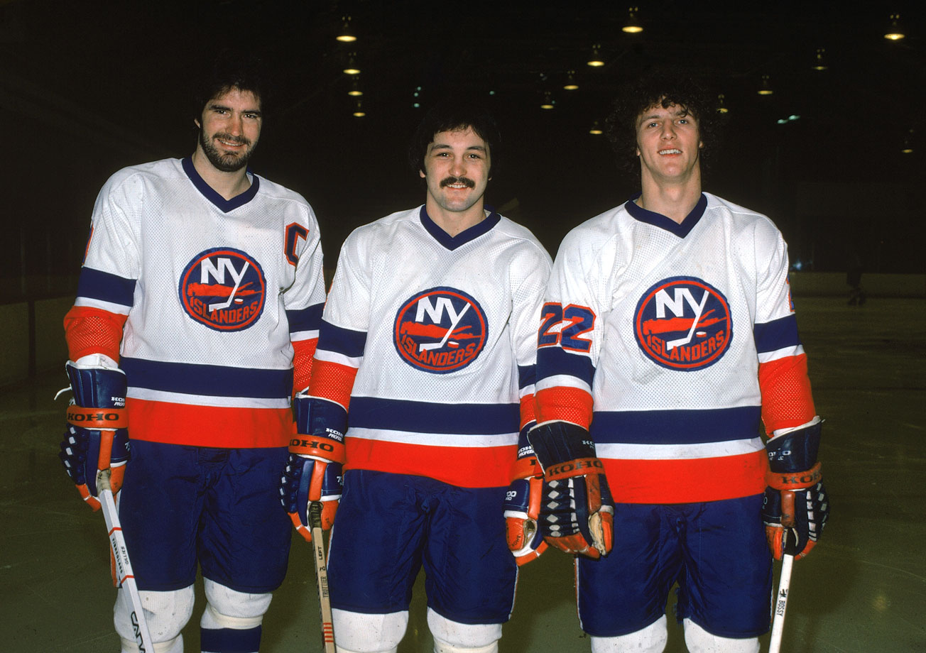 Named for the Long Island Lighting Company power conglomerate, these three Hall of Famers kept goal lamps lit from the mid-1970s through early `80s, winning four successive Cups in the process. The line was also called Trio Grande, for obvious reasons.