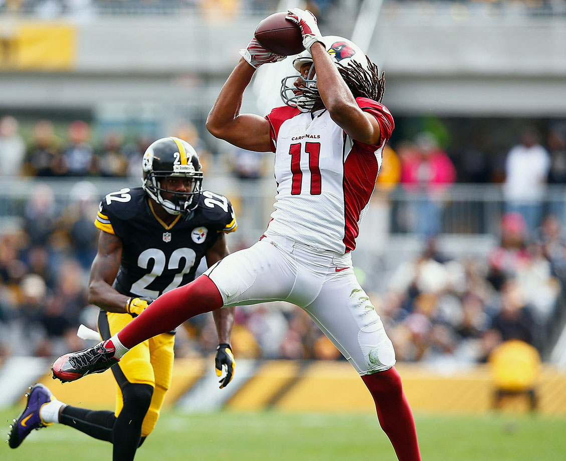 Some figured 2015 might signal a sharp decline for the 32-year-old Fitzgerald, but he's shown he has plenty left in the tank. In fact, he's made a decent case that he's still one of the best three or four receivers in the league. After three straight seasons with less than 1,000 yards, he's incredibly on pace to post career highs in receptions (105), yards (1,422) and touchdowns (14) in his 12th NFL campaign. That's quite a way to rebound from a mediocre 2014 catch rate of 63.0%, which we can now safely attribute to Fitzgerald partnering with Drew Stanton and Ryan Lindley for longer than anyone of his stature should have to. Fitzgerald's catch rate is all the way up to 78.0% this year. That ranks below just one of the 66 wideouts qualified for this list, who also tops our modified version of CDRD...