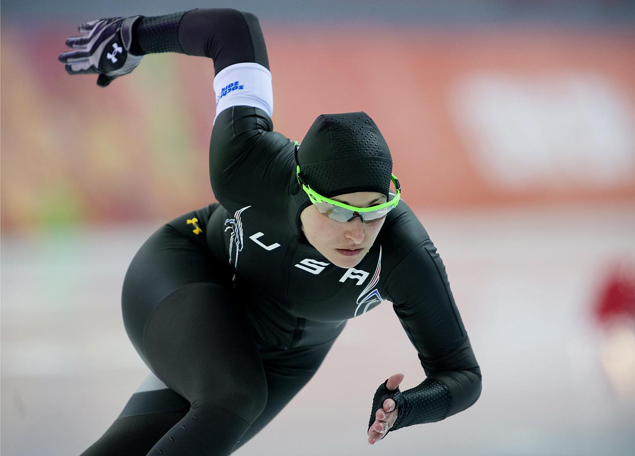 Lauren Cholewinski of the United States during the 500 meter.