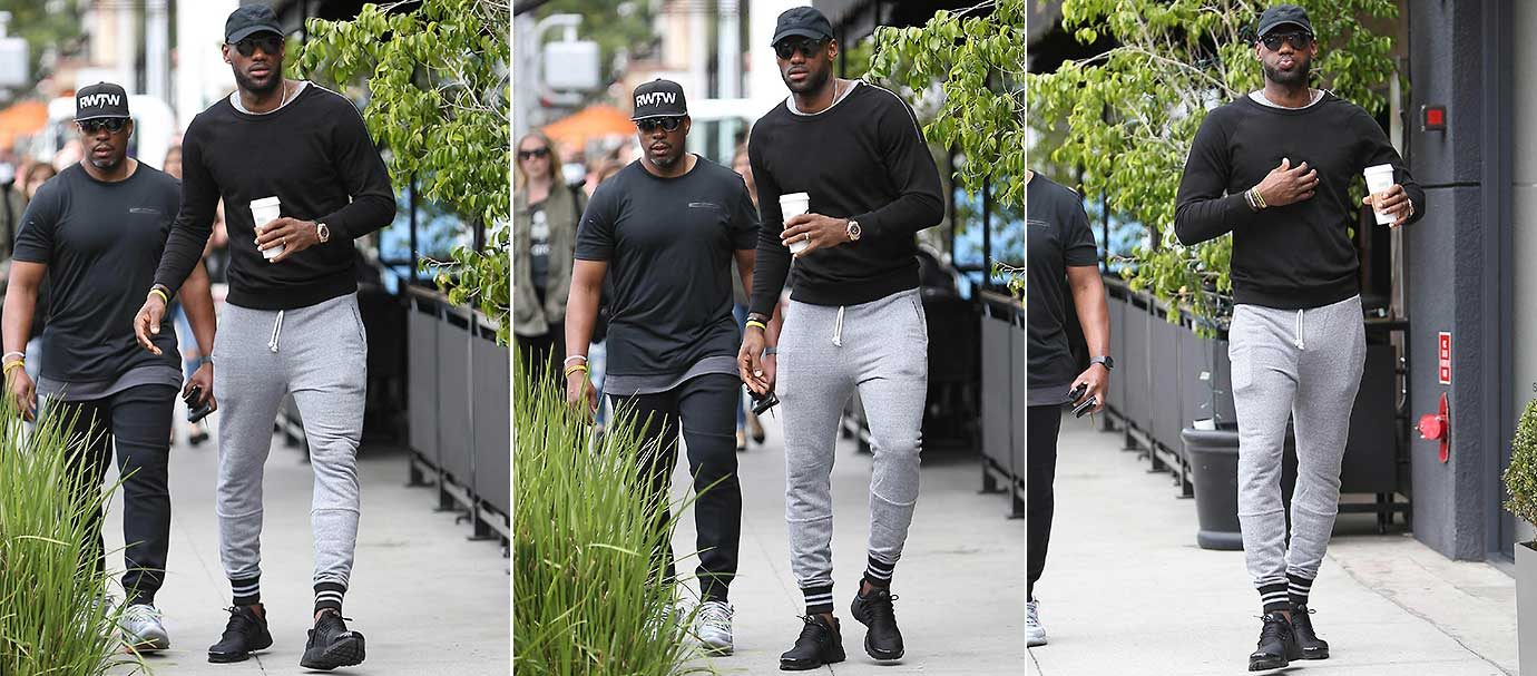 LeBron James was spotted by the paparazzi while in L.A. on Friday and it appears that he was a little surprised by the chance meeting.