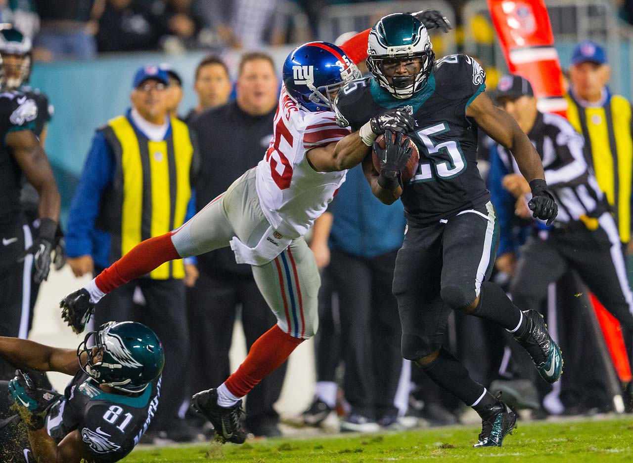 LeSean McCoy had his best game of the season, rushing for 149 yards in the win over the New York Giants.