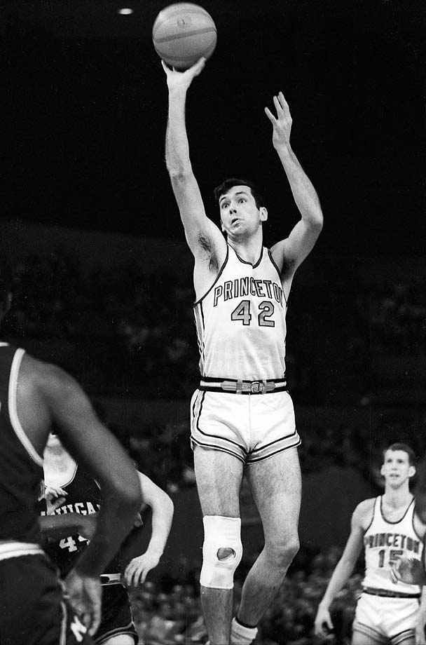 Princeton's Bill Bradley shoots against Michigan in a semifinal of the Final Four.