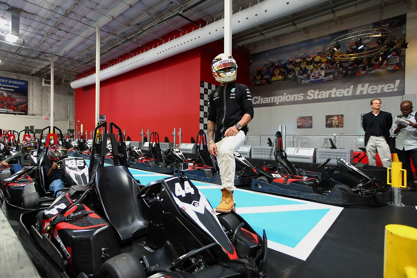 4632827bd87 F1 champion Lewis Hamilton moves easily in different worlds