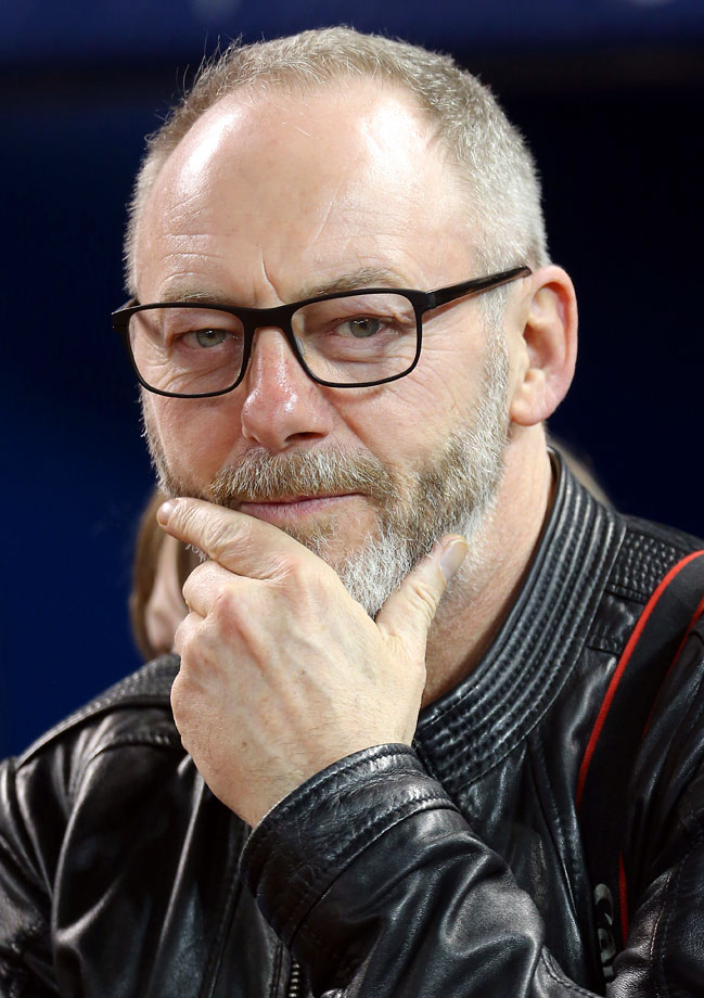 Liam Cunningham attends an MLB game between the Toronto Blue Jays and Los Angeles Angels on May 12, 2014 at Rogers Centre in Toronto.