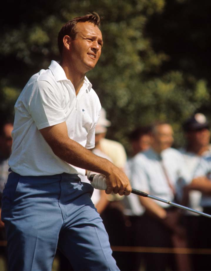 Arnold Palmer in action during the 1965 U.S. Open.