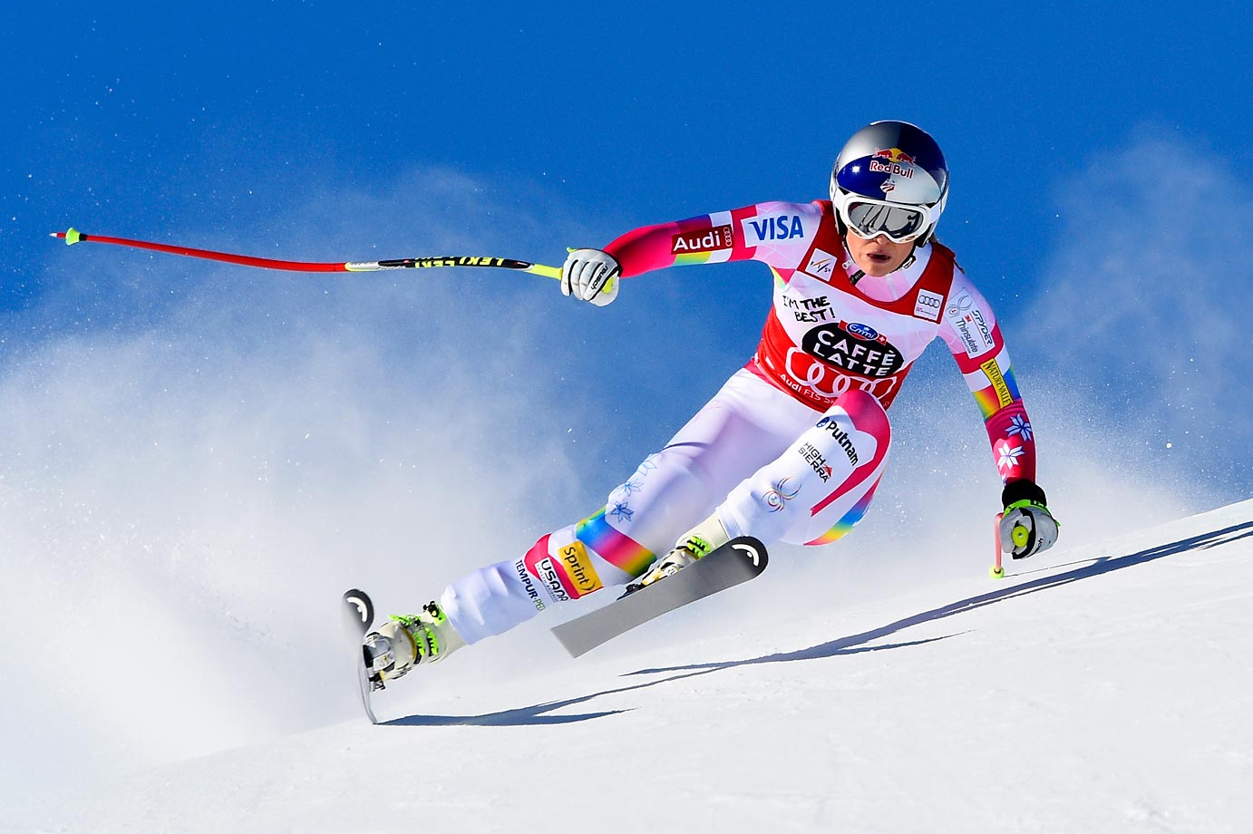 Lindsey Vonn of the U.S. competes at the Audi FIS Alpine Ski World Cup Downhill on Jan. 24 in Switzerland.