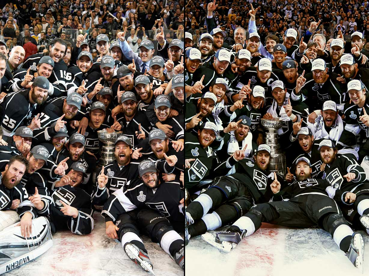 The Kings have played hockey in warm Los Angeles since 1967. But the team failed to win a Stanley Cup until 2012, when the Kings -- led by goaltender Jonathan Quick -- blew by through their opponents and won the Cup in dominating fashion, only losing four games the entire Stanley Cup playoffs.  In 2014, the Kings became only the fourth team in NHL history to win a playoff series down 3-0, when they came back to defeat the Sharks in the first round and went on to win their second Stanley Cup.