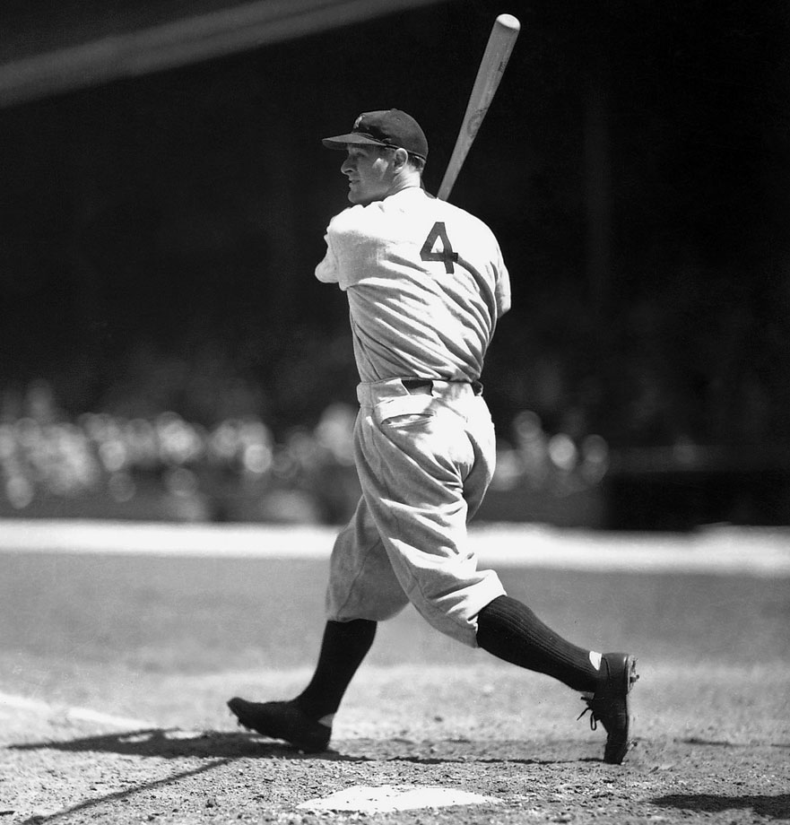 Gehrig was a terror from the left side of the plate, hitting for a career average of .340 and smashing 493 home runs. He holds the record for most career grand slams, with 23.