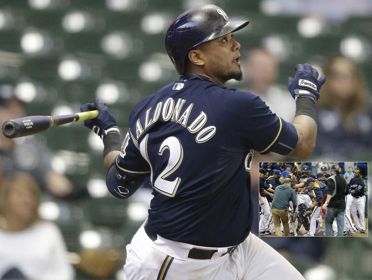 In a game that went 17 innings, Martin Maldonado delivered the closing blow with a game-winning homer that gave Milwaukee a 7-6 win over the Arizona Diamondbacks on May 31.