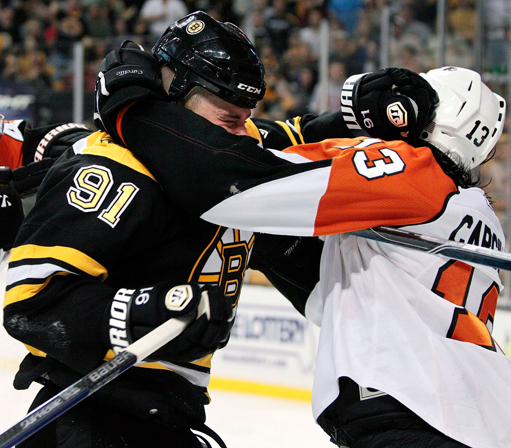 "Savard's second course allegedly came during the 2010 playoffs when the Flyers' pot stirrer put his hand too close to the Bruin's pie hole. ""Men don't bite men,"" the man known as Car Bomb complained to reporters. Alas, the league's investigation proved fruitless and Savard was not fined or suspended."