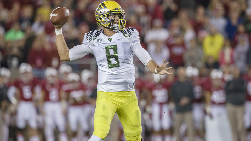 Oregon's Marcus Mariota could make another run at the Heisman Trophy in '14.