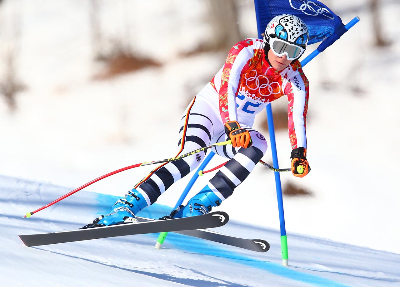 Maria Hoefl-Riesch finished 0.55 seconds behind Fenninger to claim the silver medal.