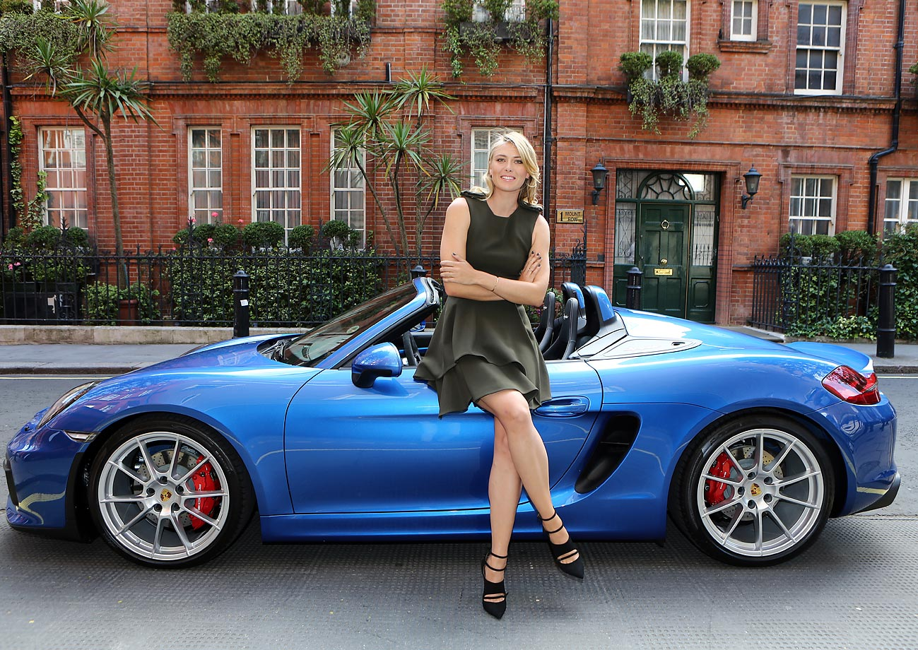 Maria Sharapova on her way to the WTA Pre-Wimbledon Party at Kensington Roof Gardens in London.