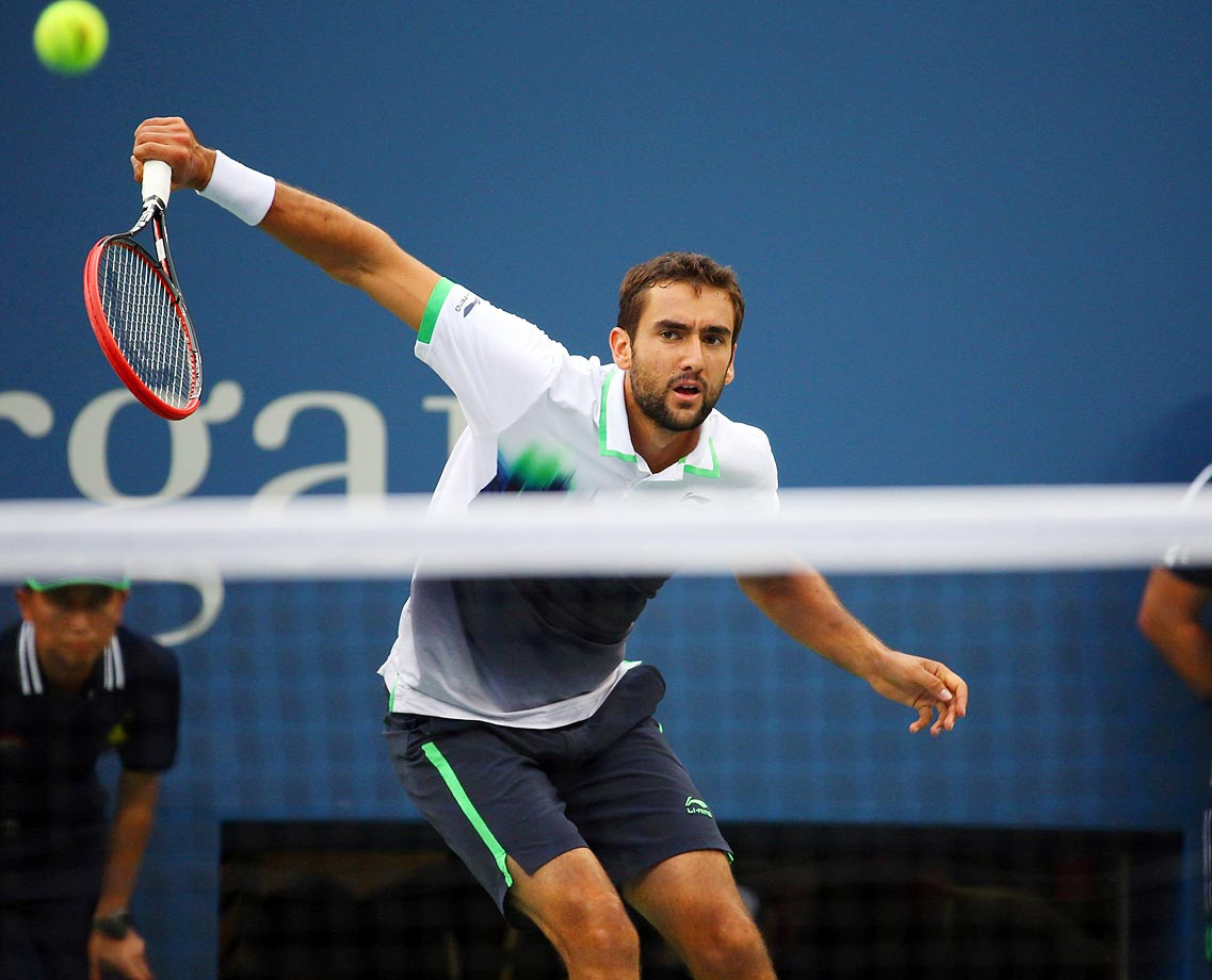 Marin Cilic overpowers Kei Nishikori in the U.S. Open final for his first Slam title.