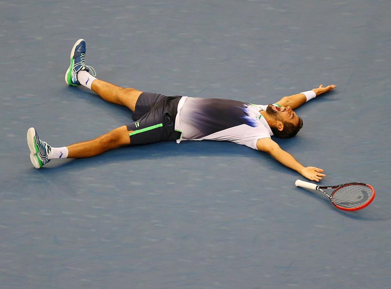 Marin Cilic after winning 6-3, 6-3, 6-3 over Kei Nishikori in the U.S. Open final.