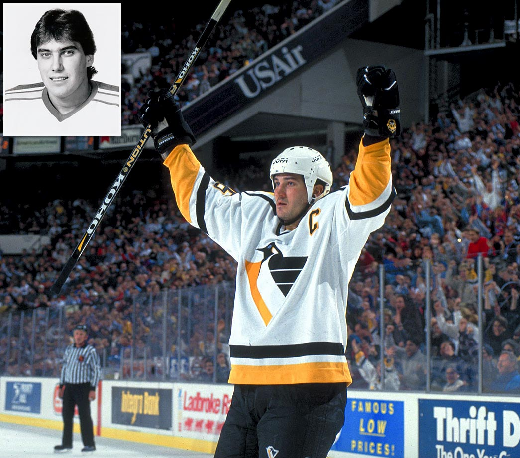The Hall of Famer and his older brother were briefly teammates during the 1986-87 season when Mario was sidelined by a virus and Alain was called up from the AHL to replace him. The Penguins' equipment manager offered Alain jersey No. 33, a play on Mario's 66 and their respective sizes: Alain was 6', 185; Mario 6' 4', 210. Alain's lone game with the Pens concluded his NHL career, which lasted parts of six seasons as a fourth liner with St. Louis, Quebec and Pittsburgh.