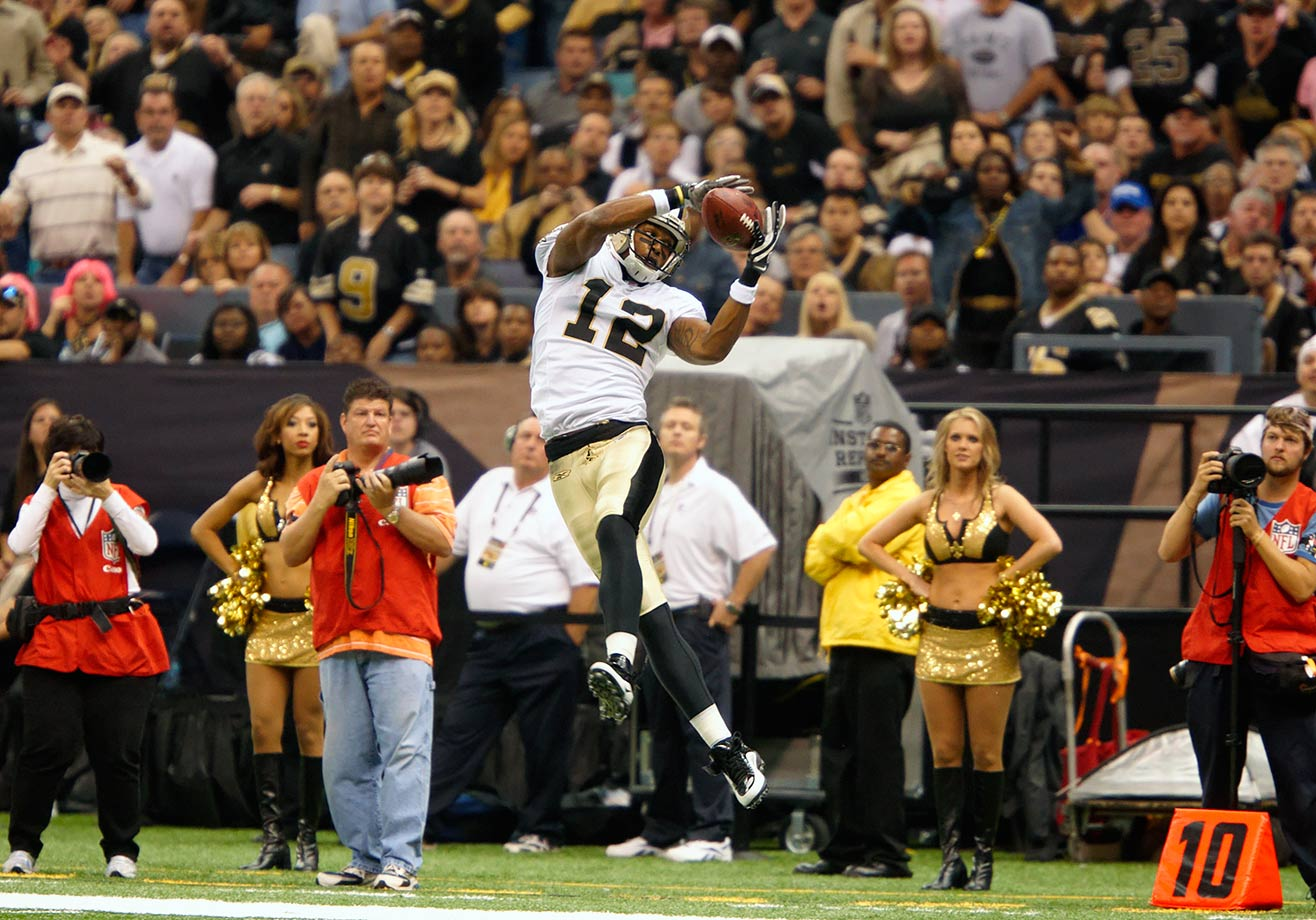 The 32-year-old Marques Colston was cut by the Saints after a decade with the team. The veteran receiver has had diminishing receptions every year since 2012, when he had 83 catches for 1,143 yards. He leaves New Orleans as the franchise leader in receptions, receiving yards and receiving touchdowns.